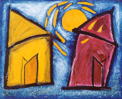 2 houses in the Sun - Carol Es - http://esart.com