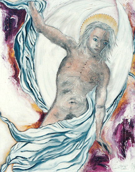 Angel 21, painting, Oil on canvas - Carol Es