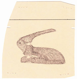 Bunny Punch, drawing, Pencil on manila paper - Carol Es