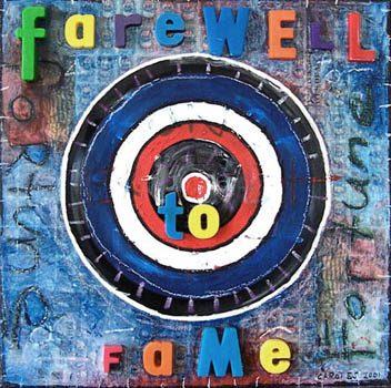 Farewell to Fame, painting, oil & collage on canvas - Carol Es