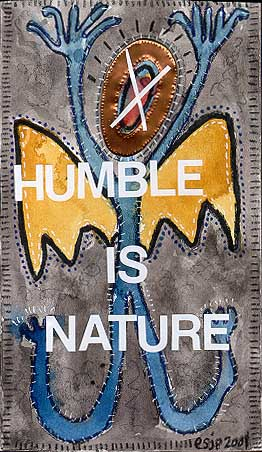 Humble is Nature, painting, Mixed media watercolor on illustration board - Carol Es