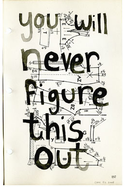 Never Ever, drawing, Watercolor & pencil on American Way book page - Carol Es