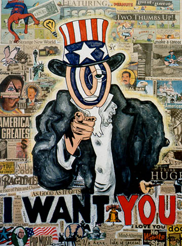 Target Headed Uncle Sam - Carol Es - http://esart.com