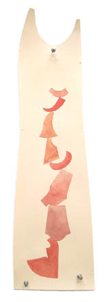Teeter, painting, Watercolor and pencil on manila pattern paper - Carol Es